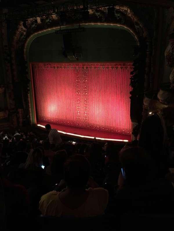 New Amsterdam Theatre, secção: Mezzanine R, fila: JJ, lugar: 24