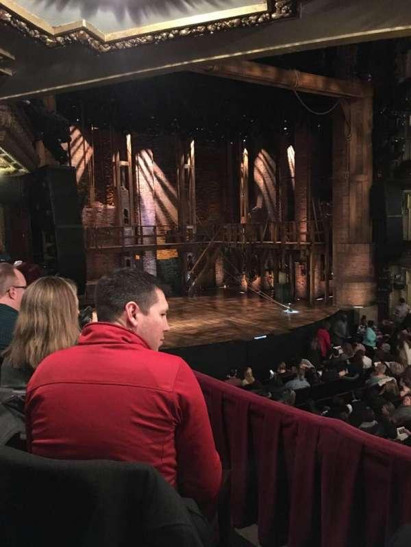 CIBC Theatre, secção: Dress Circle L, fila: B, lugar: 13