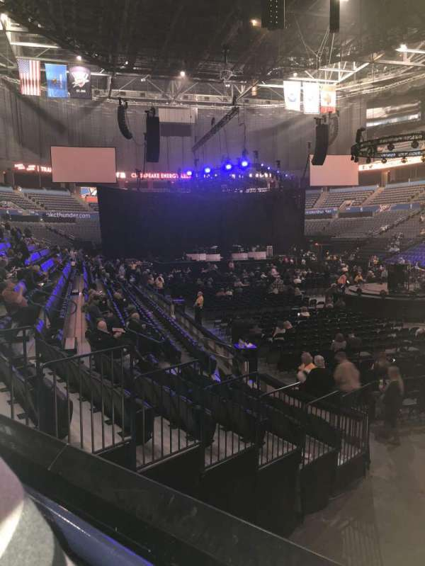 Chesapeake Energy Arena, secção: 102, fila: K, lugar: 18
