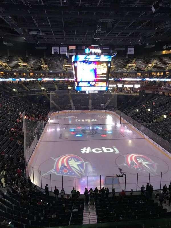 Nationwide Arena, secção: 225, fila: A, lugar: 1