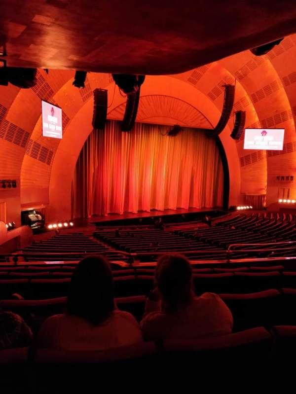 Radio City Music Hall, secção: 1st Mezzanine 7, fila: E, lugar: 709
