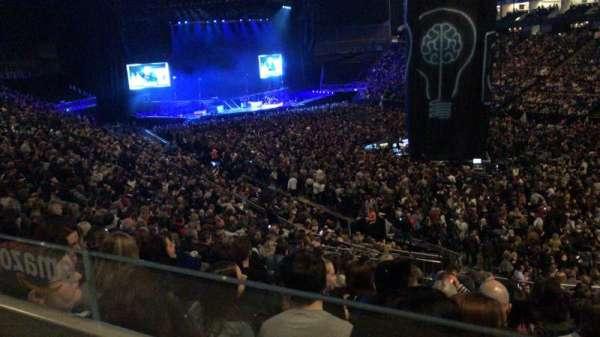 The O2 Arena, secção: 105, fila: ZZ, lugar: 124