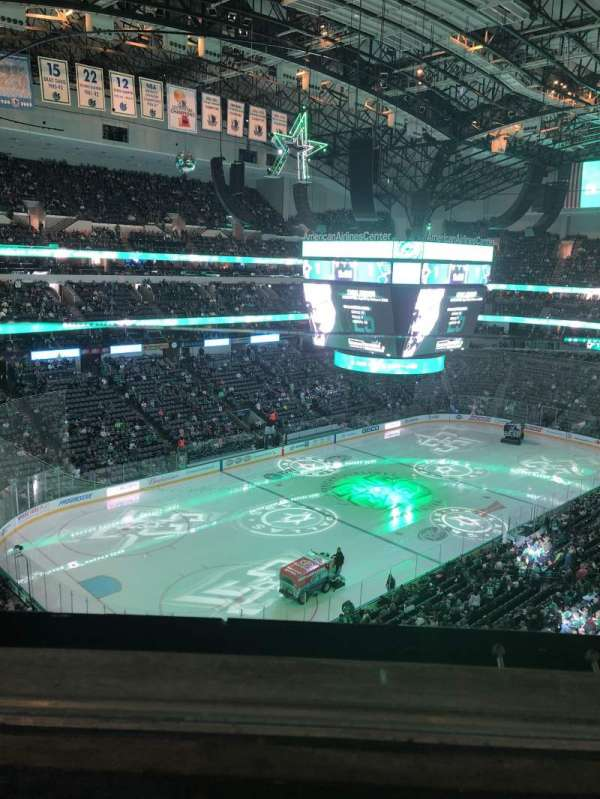 American Airlines Center, secção: 314, fila: A, lugar: 9