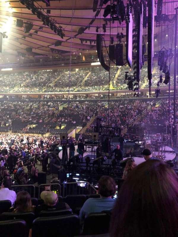 Madison Square Garden, secção: 110, fila: 10, lugar: 5