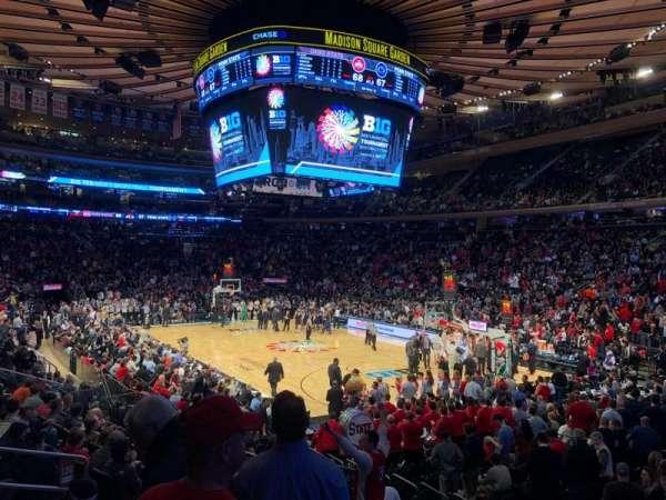 Madison Square Garden, secção: 120, fila: 11, lugar: 10