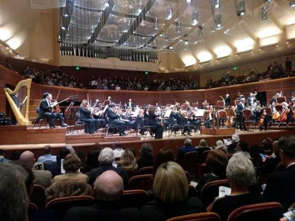 Davies Symphony Hall, secção: Orchestra, fila: H, lugar: 9