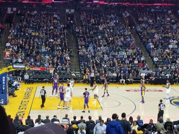Oracle Arena, secção: 102, fila: 20, lugar: 2