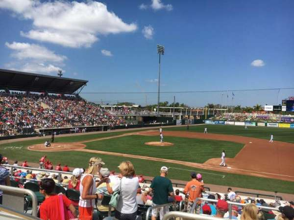 Hammond Stadium at CenturyLink Sports Complex, secção: 202, fila: 3, lugar: 19