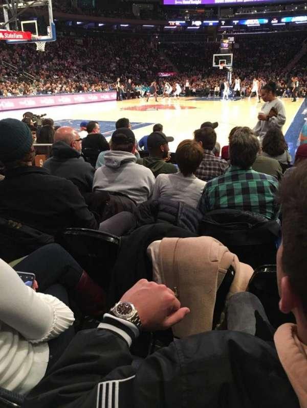 Madison Square Garden, secção: 9, fila: 5, lugar: 6