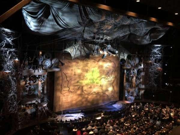 Gershwin Theatre, secção: Front Mezzanine R, fila: A, lugar: 24