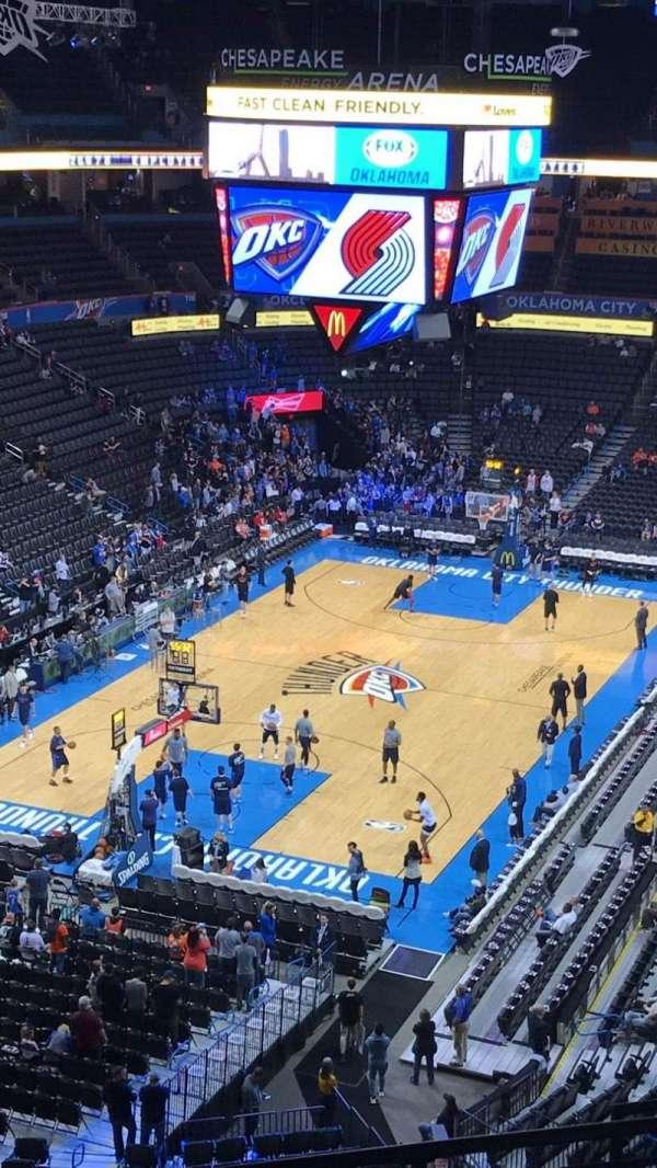 Chesapeake Energy Arena, secção: 314, fila: G, lugar: 9-10