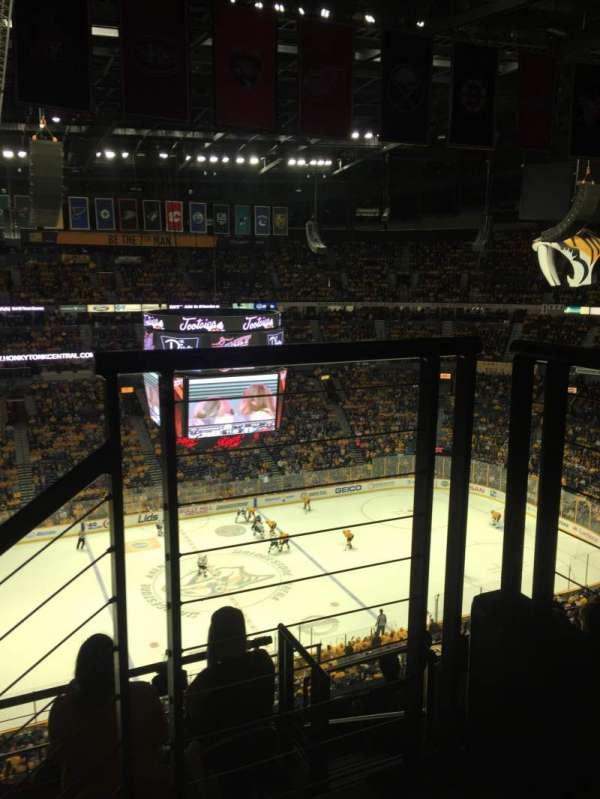 Bridgestone Arena, secção: 324, fila: G, lugar: 1