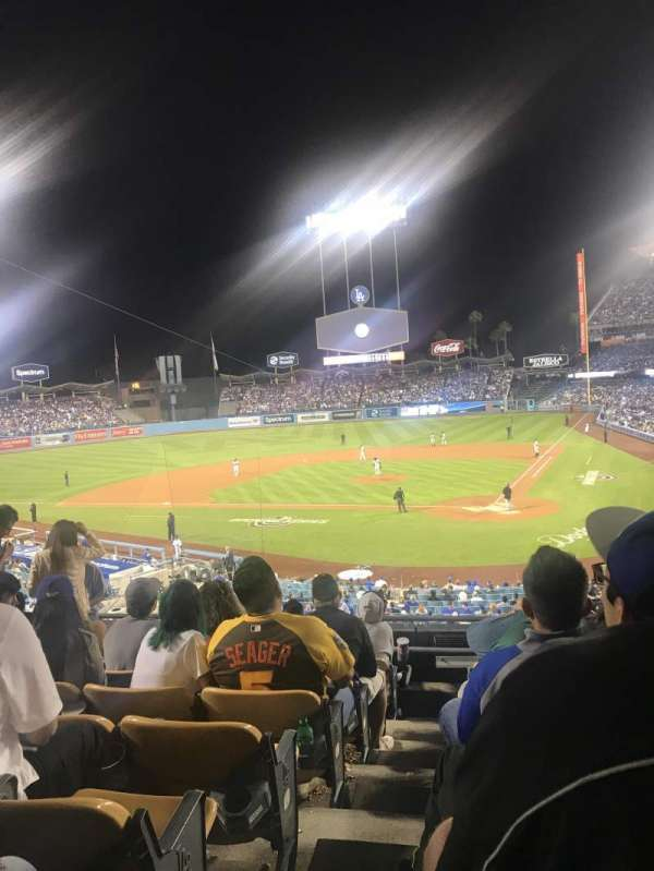 Dodger Stadium, secção: 113LG, fila: H, lugar: 6