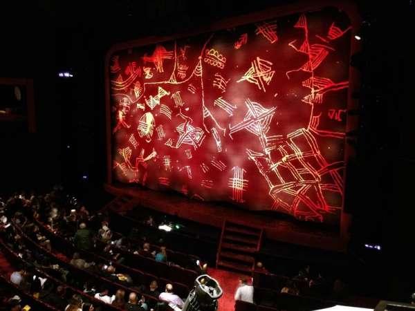 Minskoff Theatre, secção: Mezzanine, fila: BB, lugar: 4/5