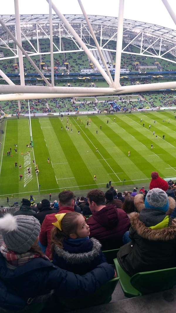 Aviva Stadium, secção: 508, fila: FF, lugar: 14