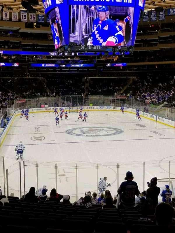 Madison Square Garden, secção: 119, fila: 19, lugar: 20