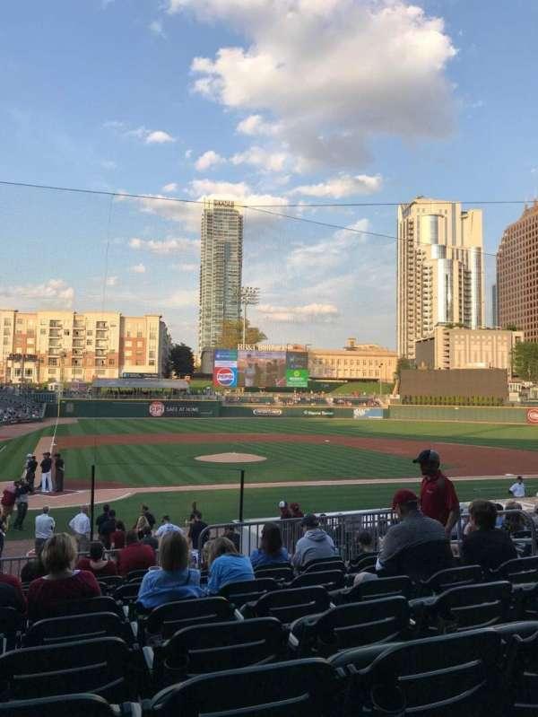 BB&T Ballpark (Charlotte), secção: 109, fila: T, lugar: 8