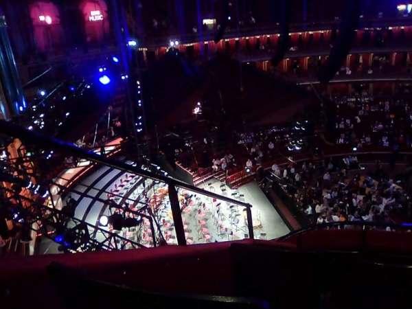 Royal Albert Hall, secção: Circle P, fila: 7, lugar: 1