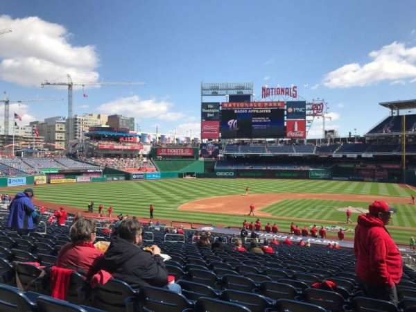 Nationals Park, secção: 117, fila: SS, lugar: 3