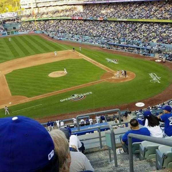 Dodger Stadium, secção: 19RS, fila: H, lugar: 2