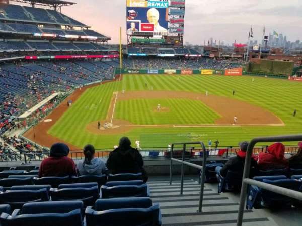 Citizens Bank Park, secção: 218, fila: 6, lugar: 1