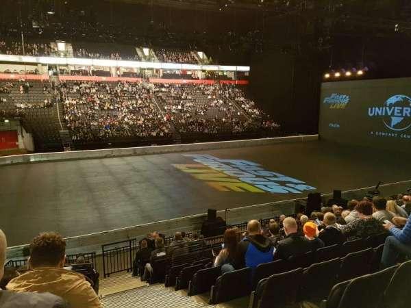 Manchester Arena, secção: 112, fila: P, lugar: 15