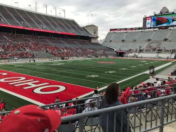 Ohio Stadium, secção: 11A, fila: 2, lugar: 2