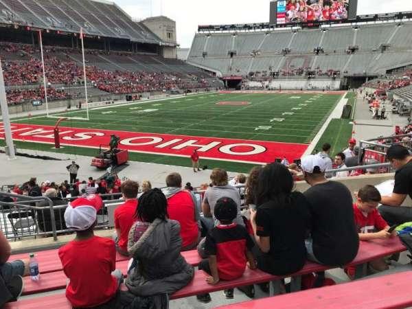 Ohio Stadium, secção: 7a, fila: 6, lugar: 6