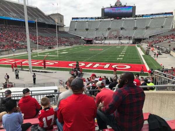Ohio Stadium, secção: 5a, fila: 7, lugar: 8
