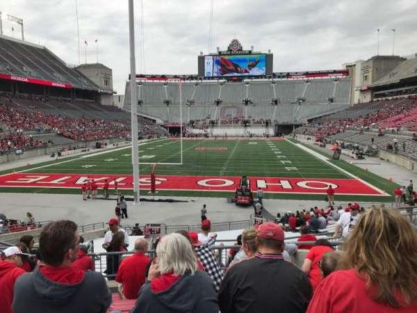 Ohio Stadium, secção: 3a, fila: 8, lugar: 10