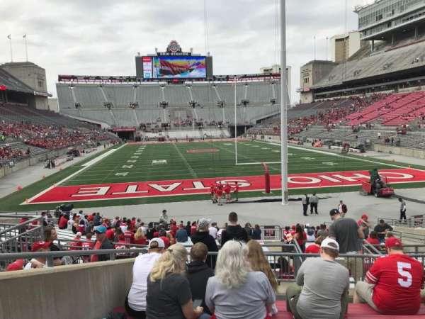 Ohio Stadium, secção: 4a, fila: 7, lugar: 11