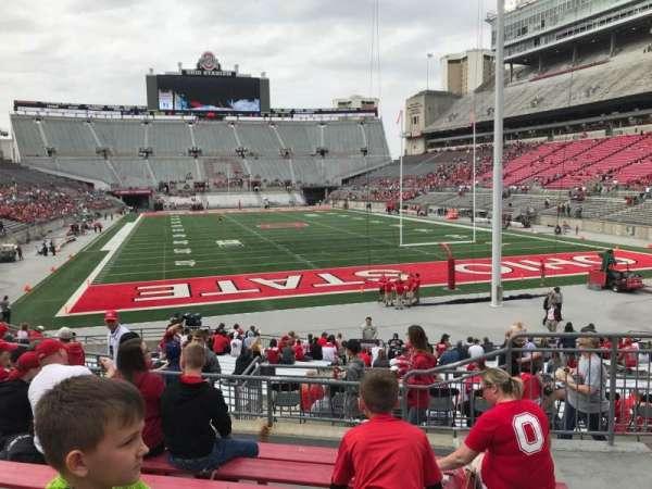 Ohio Stadium, secção: 6a, fila: 7, lugar: 4