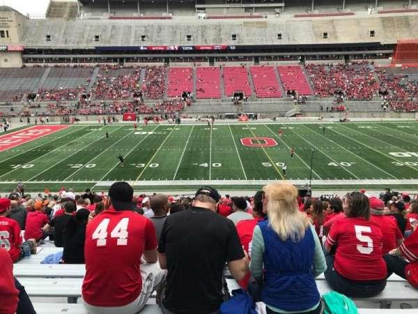Ohio Stadium, secção: 22a, fila: 25, lugar: 20
