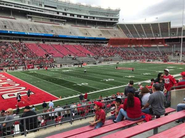 Ohio Stadium, secção: 28a, fila: 6, lugar: 11