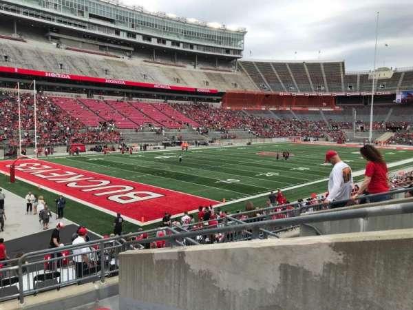 Ohio Stadium, secção: 30a, fila: 7, lugar: 2