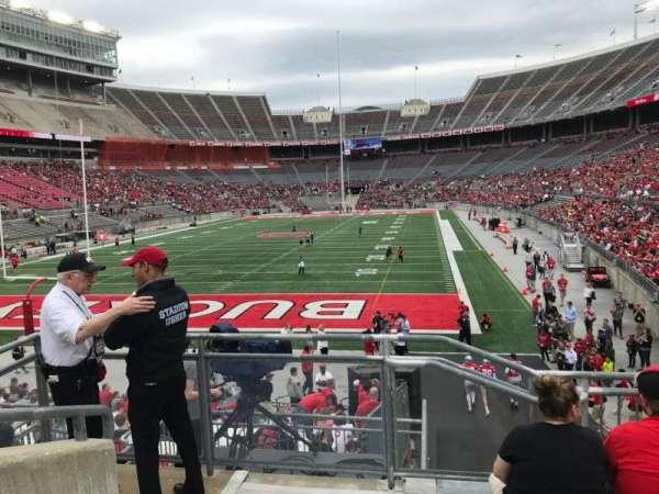 Ohio Stadium, secção: 36a, fila: 6, lugar: 19
