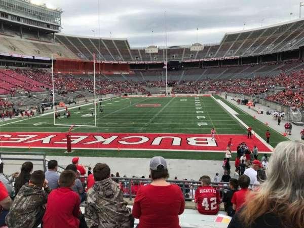 Ohio Stadium, secção: 38a, fila: 9, lugar: 13