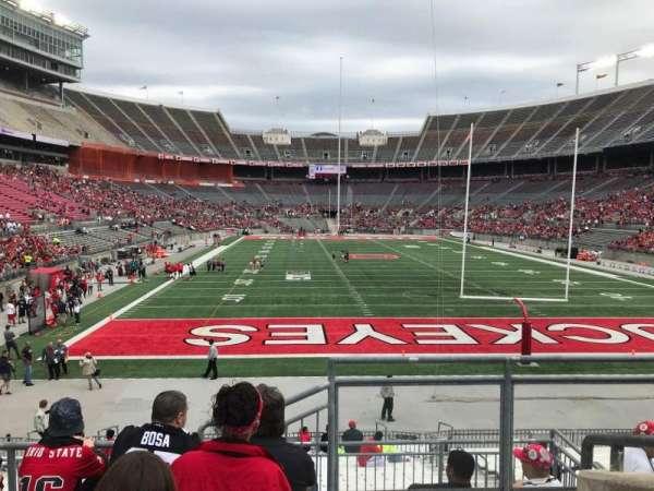 Ohio Stadium, secção: 37a, fila: 6, lugar: 1