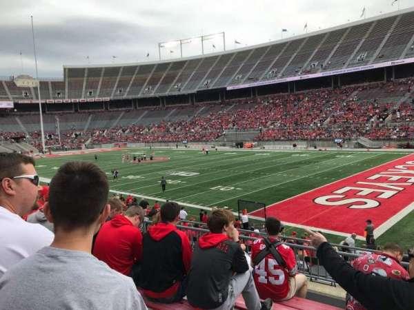 Ohio Stadium, secção: 27a, fila: 6, lugar: 23
