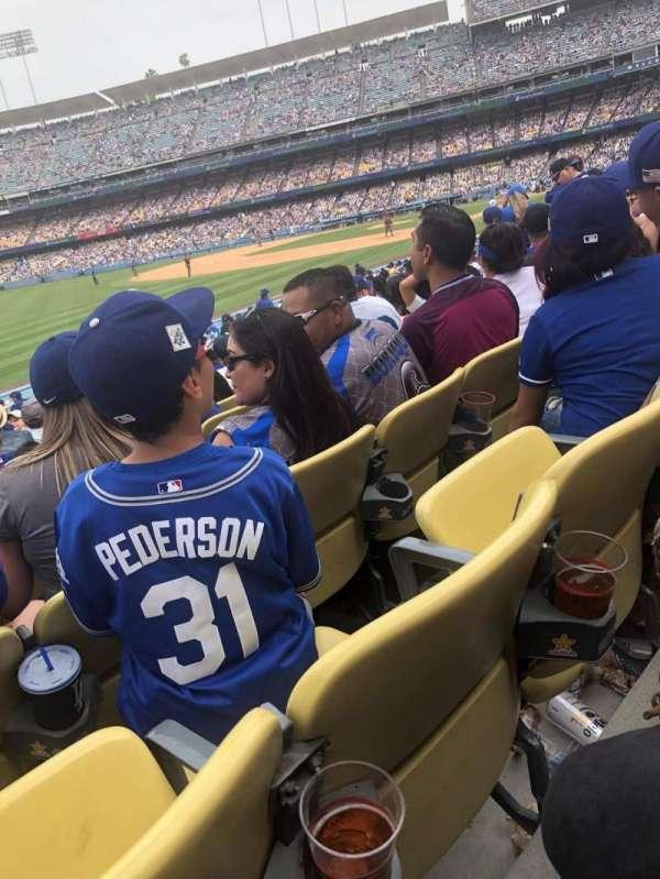 Dodger Stadium, secção: 45FD, fila: O, lugar: 16