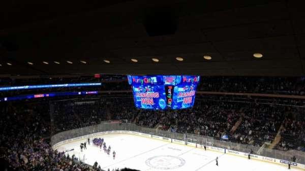 Madison Square Garden, secção: 214, fila: 13, lugar: 8