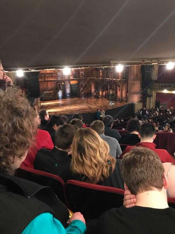 CIBC Theatre, secção: Dress Circle l, fila: E, lugar: 3