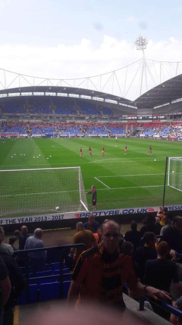 University of Bolton Stadium, secção: Block E, fila: N, lugar: 79