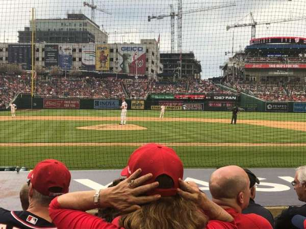 Nationals Park, secção: 128, fila: H, lugar: 13