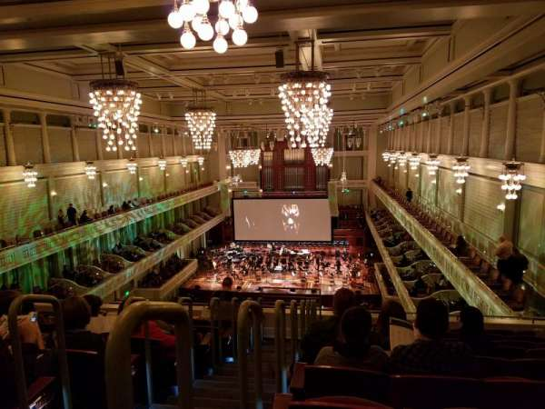 Schermerhorn Symphony Center, secção: Balcony, fila: J, lugar: 23