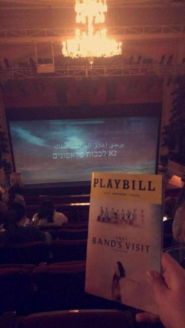 Ethel Barrymore Theatre, secção: Rear Mezzanine C, fila: F, lugar: 106