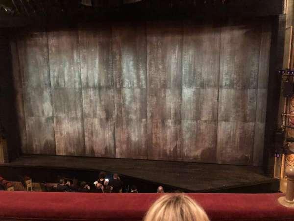 Bernard B. Jacobs Theatre, secção: Mezzanine C, fila: B, lugar: 102