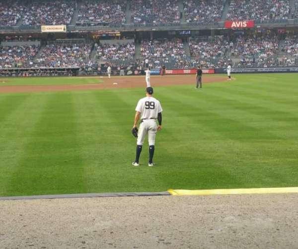 Yankee Stadium, secção: 105, fila: 2, lugar: 7