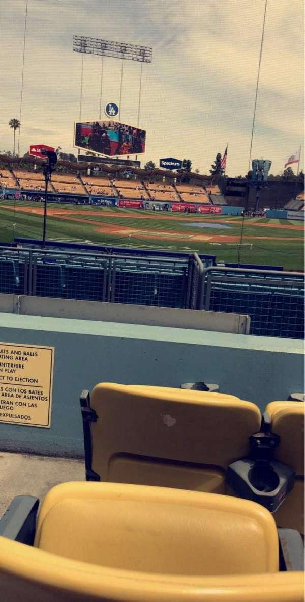 Dodger Stadium, secção: 4FD, fila: C, lugar: 1