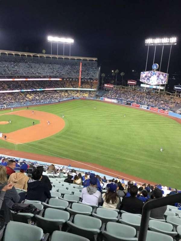 Dodger Stadium, secção: 34RS, fila: AA, lugar: 21
